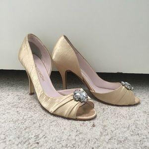 Gold Caparros Stiletto Heels